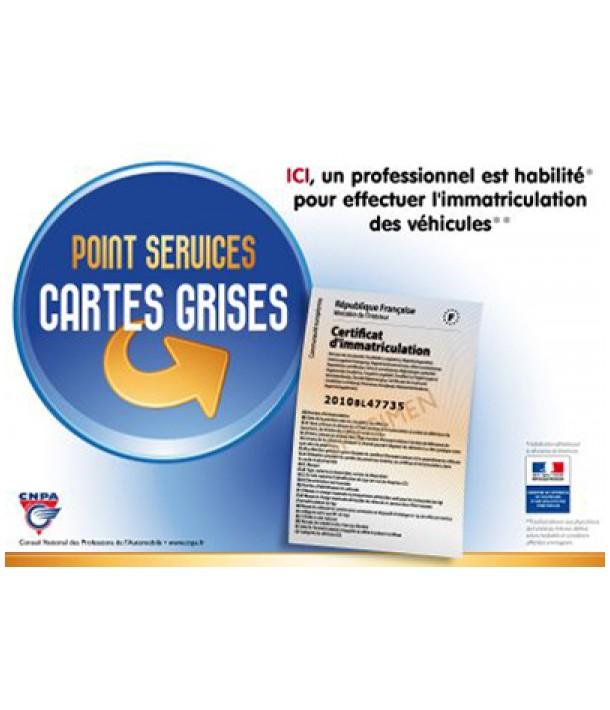 Carte grise - Frais de gestion à partir de 15€