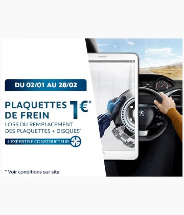 Plaquette de frein à 1 euros *