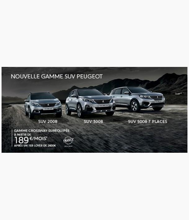 Nouvelle gamme Peugeot SUV