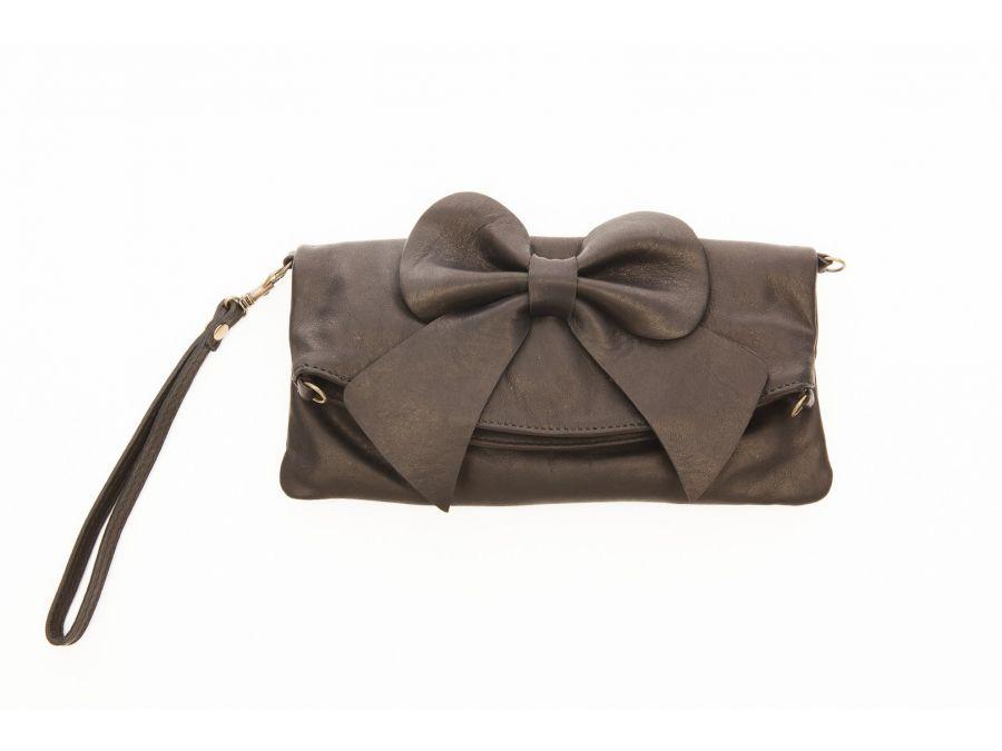 pochette-cuir-souple-noeud-noire-20529