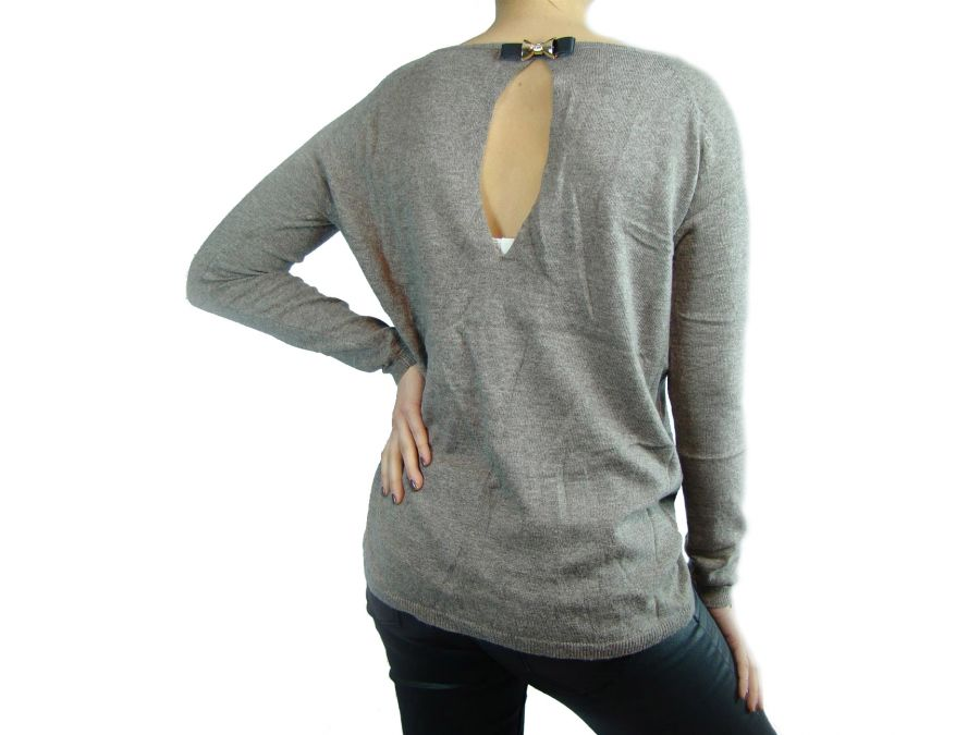 Pull col rond MARRON