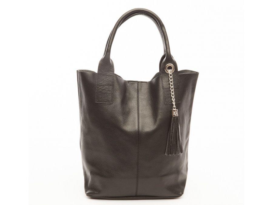 cabas-pompon-cuir-grainac-noir-20894