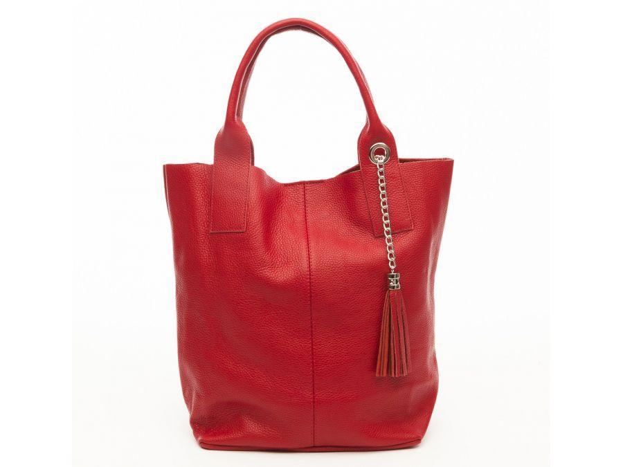 cabas-pompon-cuir-grainac-rouge-20895