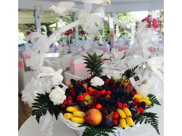 Corbeille de fruits mariage