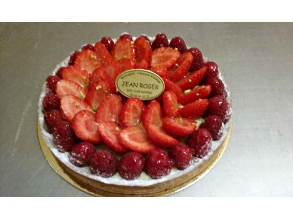 Tarte fraise- framboise