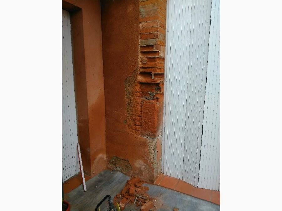 Rénovation jambage de mur