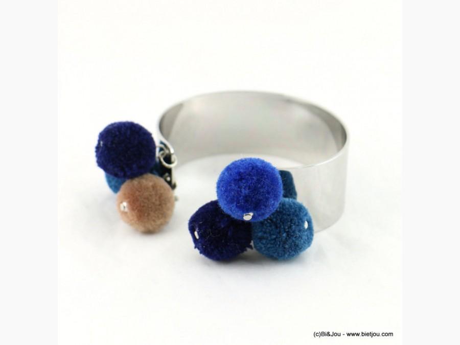 manchette-pompons-colores-34514