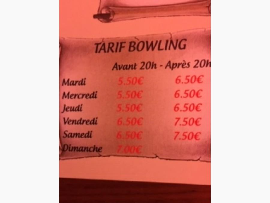 Tarif Bowling