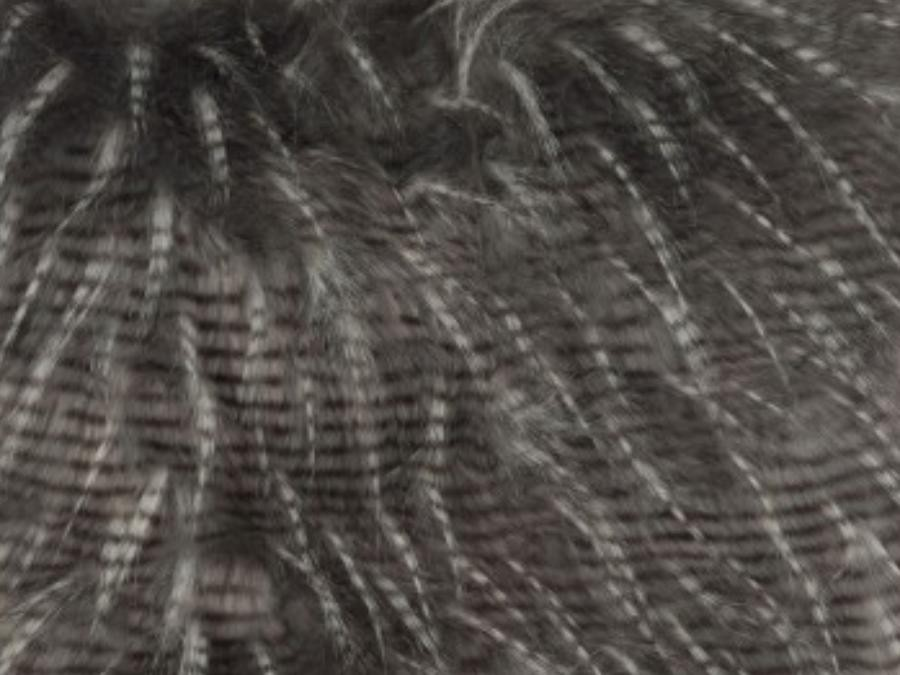 Coussin imitation fourrure grise