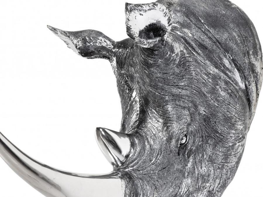 Tête décorative Rhino Antique