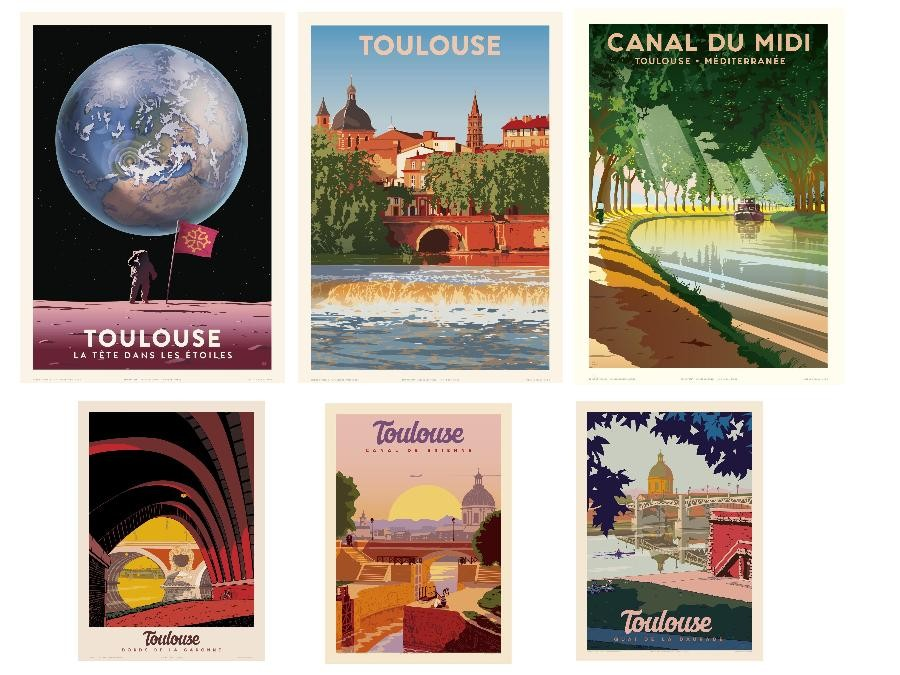 Affiches 50 x 70 Toulouse